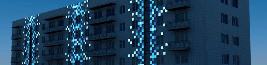 Пример светового оформления здания